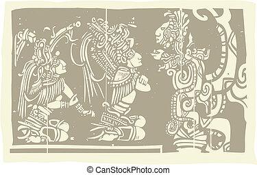 mayan, visão, sacerdotes