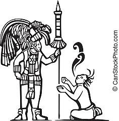 Mayan Warrior and Captive