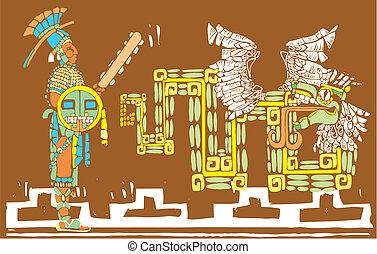 Mayan Warrior and Kukulcan
