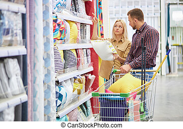 maybe this one couple choosing new pillow for their new house