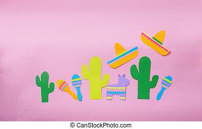 mayo, mexikanisch, concept., de, fest, cinco, tag
