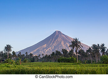 mayon, 山, フィリピン, vulcano