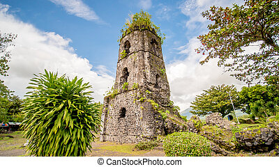 mayon, cagsawa, 山, legazpi, 背景, 教会, 火山, 台なし, フィリピン
