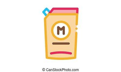 mayonnaise, animation, meute, distributeur, icône