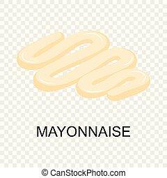 Mayonnaise icon, isometric style