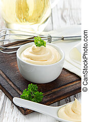 Mayonnaise in bowl