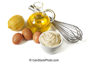 Mayonnaise Ingredients - Mayonnaise with ingredients,...