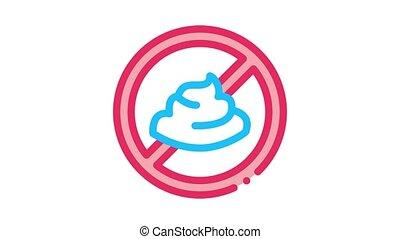 mayonnaise, interdiction, animation, icône