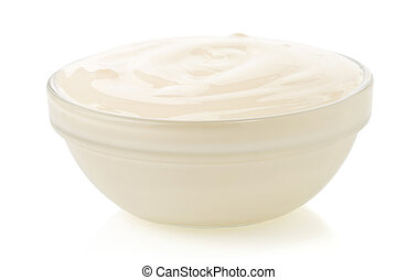 mayonnaise sauce isolated on white - mayonnaise sauce in...