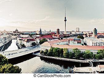 mayor, vista, alemania, señales, berlín