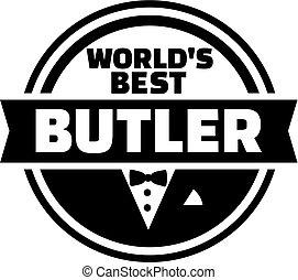 mayordomo, botón, mundo, mejor