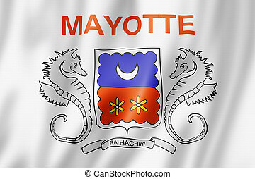 Mayotte flag, Overseas Territories of France