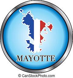Mayotte Round Button