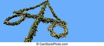 maypole, 飾られる, ∥で∥, スウェーデンの旗