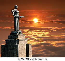 Mayr Hayastan. Monument in city Yerevan, Armenia.