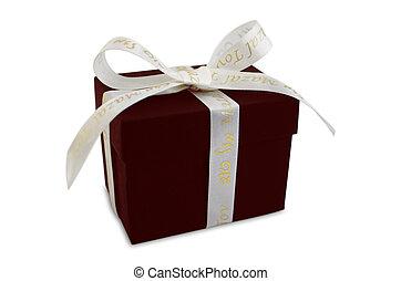 Mazal Tov Jewish Gift Box - Jewish gift box isolated on...