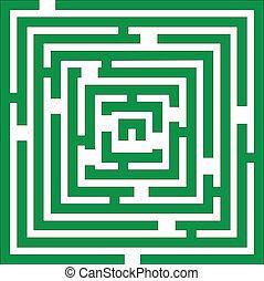 Maze 01 color - Maze 01 in green color