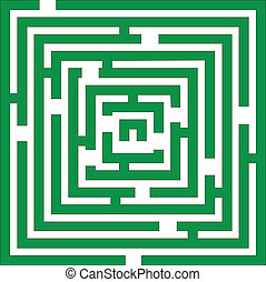 Maze 01 color - Maze 01 in green color