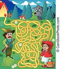 Maze 20 with fairy tale theme - eps10 vector illustration.