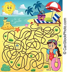 Maze 28 with beach theme 1