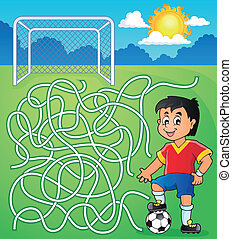 Maze 5 with soccer player