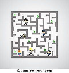 maze against game catch me if you can