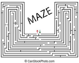 maze against white
