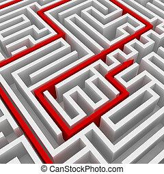 Maze and arrow
