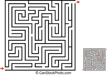 Maze and labyrinth game, vector design on white
