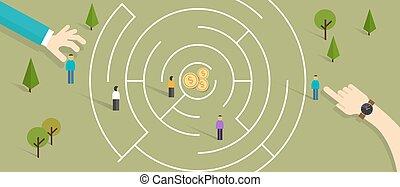 maze business labyrinth challenge