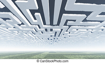Maze Clouds in Sky