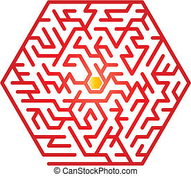 Maze - Color maze. Vector illustration.