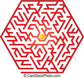 Maze - Color maze. Vector illustration.