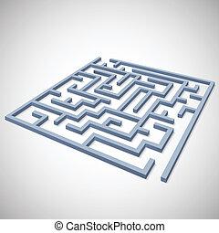 Maze concept for your business presentation