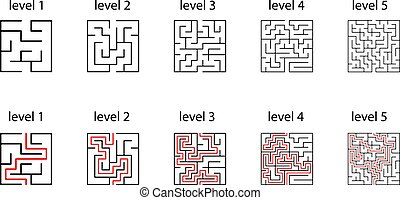 maze Design element for the maze shape. One way out and one right approach, but many paths lead to a dead end.