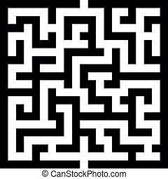 maze - illustration of an abstract vector maze, eps 8 vector