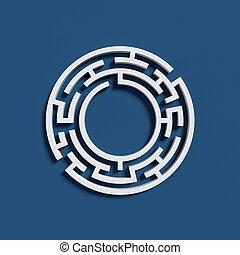 Maze font letter O