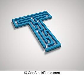 Maze font letter T
