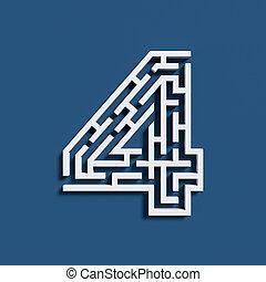 Maze font number 4