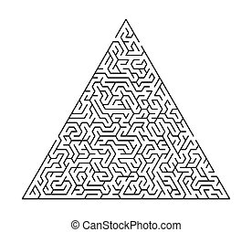 Maze game for homeschooling kids. Maze puzzle task. Home leisure riddle shape, search right path.