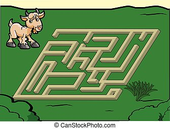 Maze game : Goat and grass