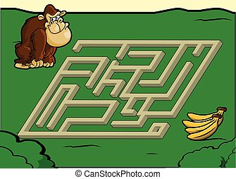 Maze game : gorilla and banana