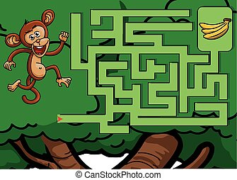 Maze game : monkey and banana