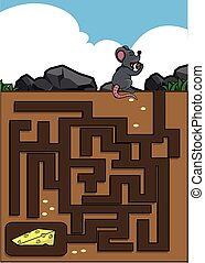 Maze game : mouse and cheese