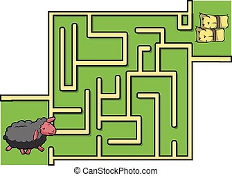 Maze game : Sheep and grass