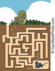 Maze game : snake and mouse