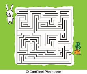 Maze game with rabbit and carrot