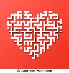 Maze heart