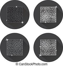maze., icons., vector.