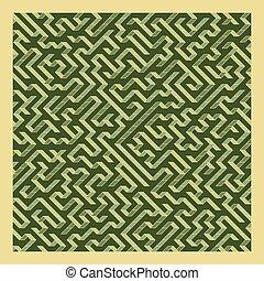 Maze. Labyrinth.